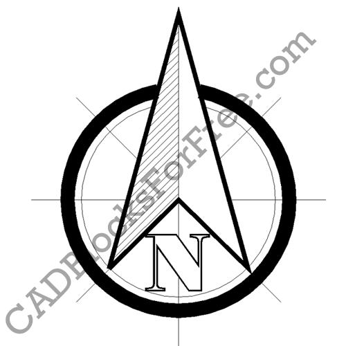 North Arrow | CAD Blocks For Free