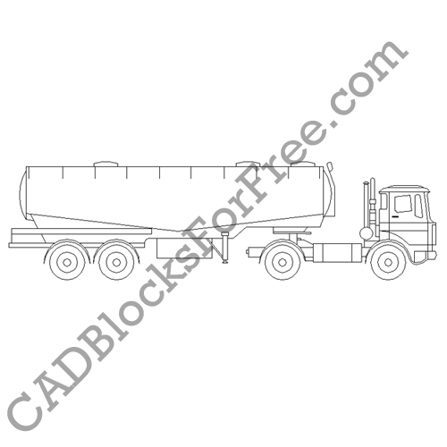 Truck with Tanker Trailer