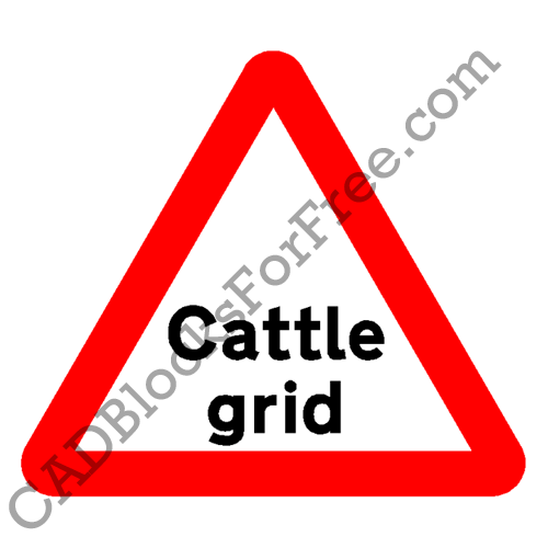 Cattle Grid warning Sign