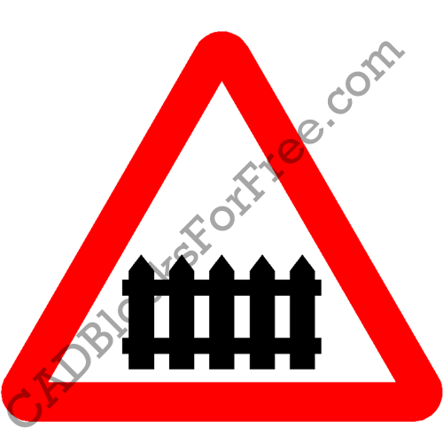 Level Crossing with Barrier or Gate Ahead