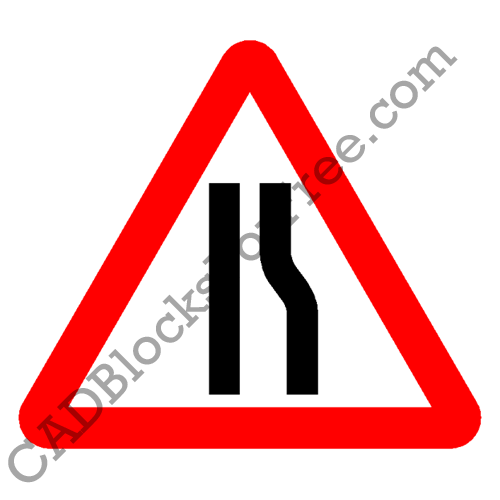 Road Narrows on Right