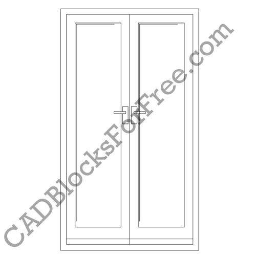 Patio Door Cad Drawing: CAD Blocks For Free