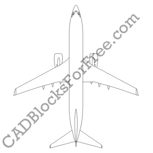 Boeing 737 800 | Free AutoCAD block in DWG