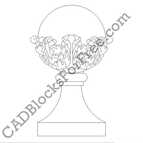 Acanthus Leaf Ball & Collared Base