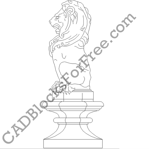 Lion Finial on Base