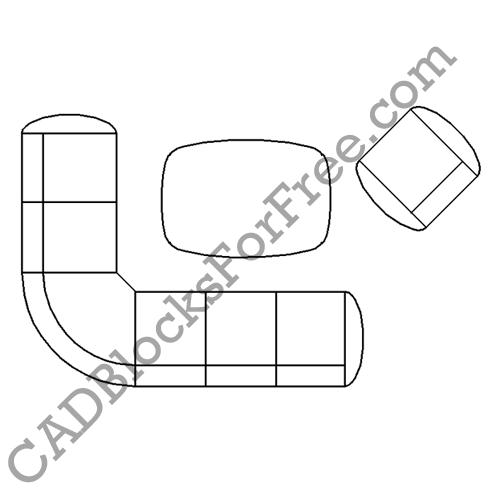 Coffee Table with Chair & Corner Sofa