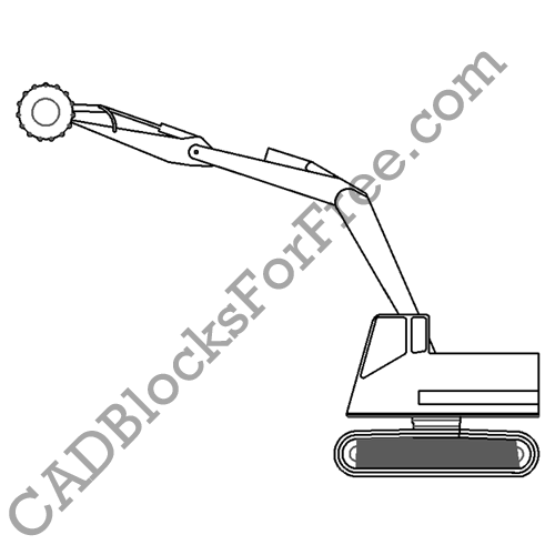 Bucket-Wheel Excavator | CAD Blocks For Free