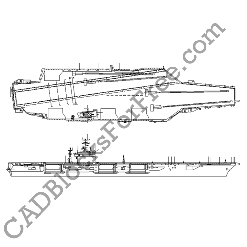 Aircraft Carrier | CAD Blocks For Free on