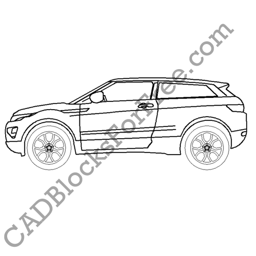 Range Rover Evoque | CAD Blocks For Free