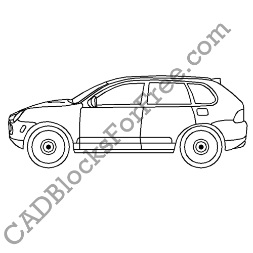 Porsche Cayenne | CAD Blocks For Free