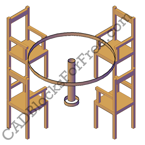 table with chairs cad blocks for free