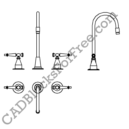 Kitchen Faucet Cad Block Elevation – Wow Blog