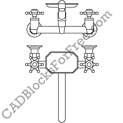 Kitchen Sink Tap/Faucet | CAD Blocks For Free