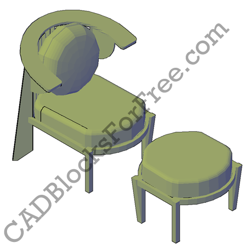 Chair with Stool