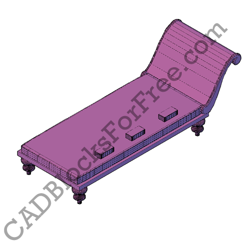 Chaise longue cad blocks for free for Chaise longue dwg