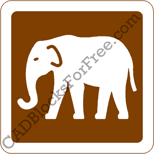 Road Signs (UK) | CAD Blocks For Free Zoo Road Sign