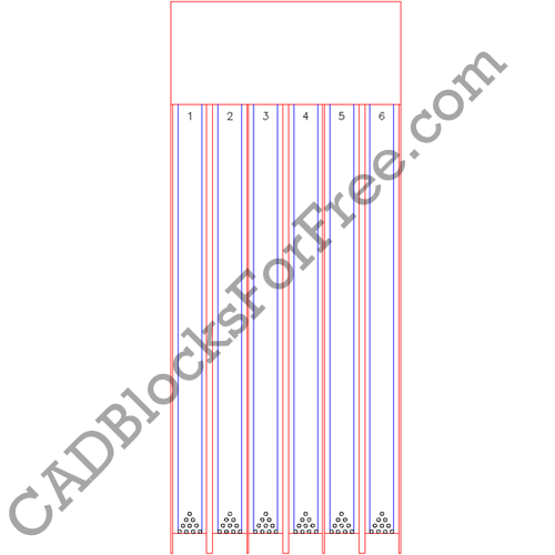 Bowling Lanes Free Autocad Block In Dwg