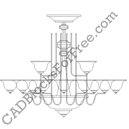 Chandelier cad blocks for free chandelier aloadofball Images